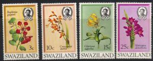 Swaziland #183-86 MNH cpl flowers