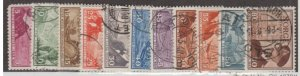 Norway Scott #279-289 Stamps - Used Set