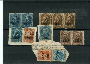 Nova Scotia Bill stamp overprint LOT 4c, 8c, 5c ,30c, 10c, Cat $225 Canada used