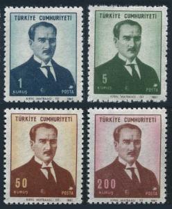 Turkey 1767-1770,MNH.Michel 2082-2085. Kemal Ataturk,1968.