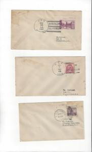 US Naval Covers  USS Bushnell, Cole & Concord  All 1930's