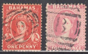Bahamas #16 and #18 USED -- Both has no faults