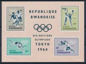 [61093] Rwanda 1964 Olympic games Tokyo Football Basketball MNH Sheet