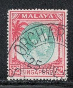 Singapore 1951 King George VI $2 Scott # 19a Used