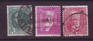 J20121 jlstamps 1933 france set used #291-3 famous men