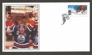 Canada Post Oilers Capitain with Stanlet Cup -- Year 2008 -- HOCKEY FDC #2265
