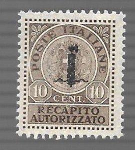 Republic Social Italy 1944 - M - Scott #EY2 > Type A *