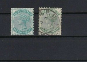 natal blue green  mounted mint stamp ref r10474
