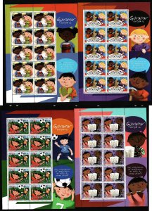 Gibraltar-Sc#1040-3-four unused NH sheets-Europa-Children-2006-