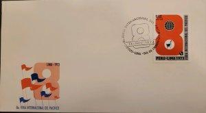 O)  1973 PERU, PACIFIC FAIR, INTERNATIONAL PACIFIC FAIR, FDC XF