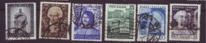 J22634 Jlstamps 1949 italy sets of 1 used #519-up designs