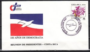 Costa Rica, Scott cat. 420. Democracy Anniversary. Orchids. First Day Covers. ^