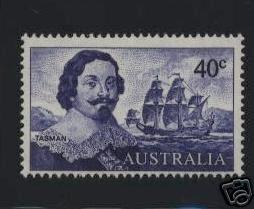 Australia SC# 412 1966 40c Abel Tasman and Ship MLH stamp