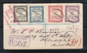 Cook Islands #5 - #8 (SG #1 - #4) Very Fine Used On Cover Cancelled By Rarotonga