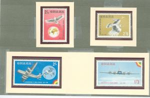 1958 Ghana Scott 32-35 Inauguration of Ghana Airways MNH