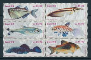 [97711] Brazil 1988 Marine Life Fish  MNH