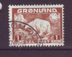 J16556 JLstamps 1938-46 greenland used #9 polar bear
