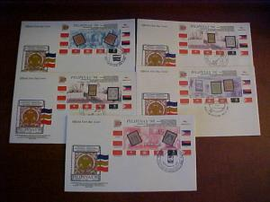 Philippines  #2561-65 FDC's - RARE!! as very few were prepared due to short lea