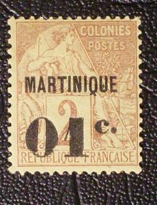 Martinique Scott #9 unused