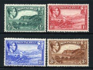 Montserrat 1938 KGVI P / Juego (4v Perforado 13 Nuevo