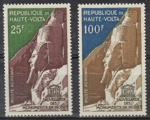 Upper Volta Monuments of Nubia (Scott #C12-13) MLH