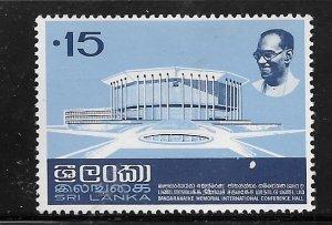 SRI LANKA CEYLON, 477, HINGED, CONFERENCE HALL