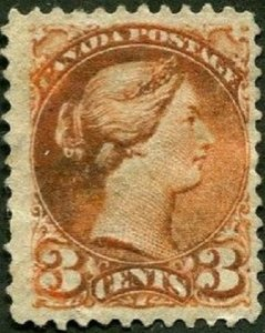 Canada Scott #37b Dark Copper VAR.Used VF SCV $75.00.