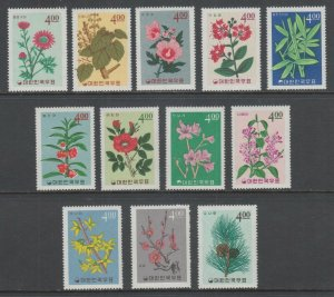 Korea Sc 456-467 MNH. 1965 Flowers & Plants, complete set, VF