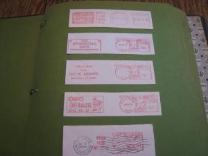 U.S.  COLLECTION OF POSTAGE METERS & POSTAL STICKERS/LABELS