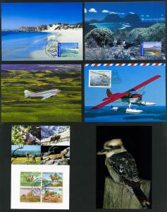 Worldwide Lot of 40 Full Color Maxi Cards of Paintings and Travel Photography