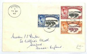 BRUNEI GB Sussex Seaford Cover 1949 {samwells-covers} CW261