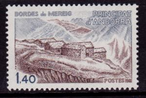 French Andorra 285 MNH - Mountain Village (1981)