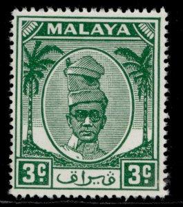 MALAYSIA - Perak GVI SG130, 3c green, NH MINT.