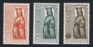 Liechtenstein Termination of Marian Year 3v SG#327-329 SC#284-286 CV£60+