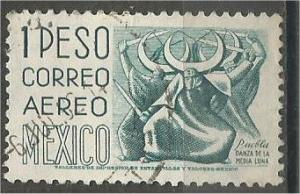 MEXICO, 1950, used 1p, Definitive Scott C195
