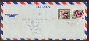 Niue to Hartland,WI 1985 Official  # 10 Cover