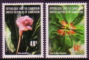 Cameroun Flowers 2v SG#766-767 MI#819-820