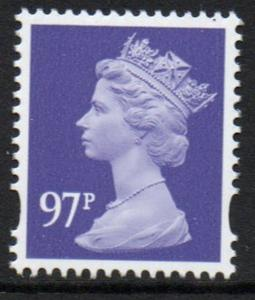 Great Britain Sc MH400 2010 97p  violet QE II Machin Head stamp mint NH