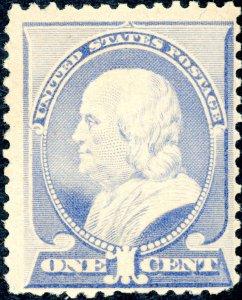 #212 – 1887 1c Franklin, ultramarine. MNH OG F/VF