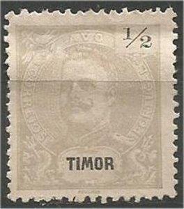 TIMOR, 1898, MH 1/2a, King Carlos Scott 53