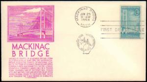 United States, Michigan, First Day Cover, Bridges