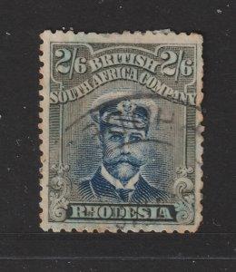 Rhodesia a used 2/6 KGV die 2