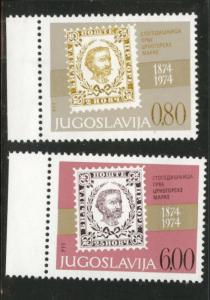 Yugsolvaia Scott 1185-86 MNH**** stamp on stamp set