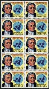 Bolivia 653 block/10,MNH.Michel 965. St Baptiste de la Salle,educator.1980.