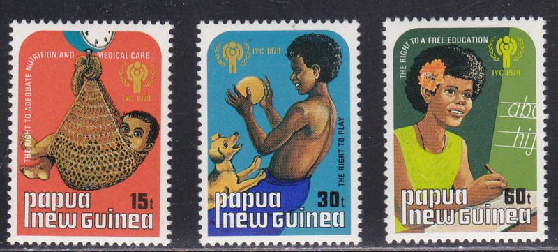 Papua New Guinea # 509-511, IYC Year, Mint NH