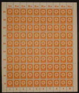 D.Reich Dienst Bogen Nr.143** in einwandfreier postfrischer Erhaltung MNH Luxus