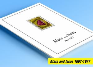 COLOR PRINTED AFARS AND ISSAS 1967-1977 STAMP ALBUM PAGES (21 illustrated pages)
