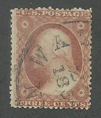 1857 United States Scott Catalog Number 25 Used