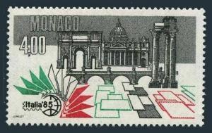 Monaco 1487,MNH.Michel 1712. ITALIA-1985.St Peter Cathedral.Temple of Castor.