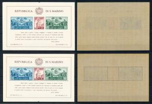[73830] San Marino 1945 Reconstruction Government Building 2 Sheets Perfect MNH